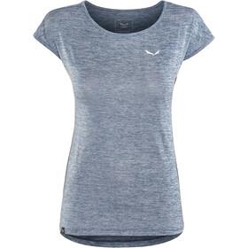 SALEWA Puez Melange Dry t-shirt Dames, poseidon melange